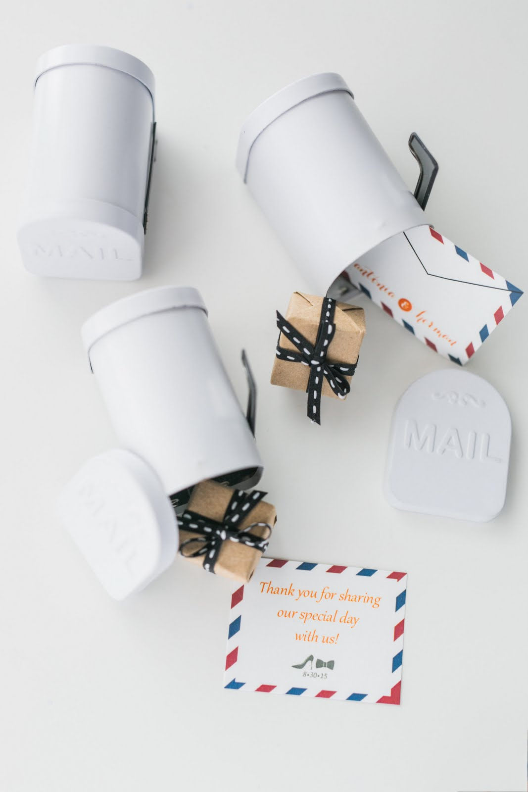 mailbox wedding favours
